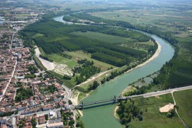 Vue aérienne Filhole et Front de Garonne