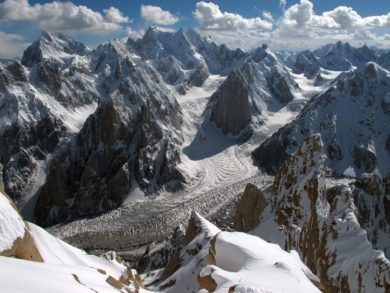 glaciers hautes montagnes asie