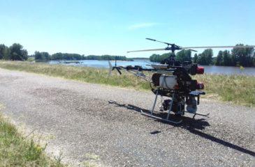 Le drone Didro en version hélicoptère