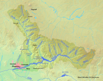 the verde river_map